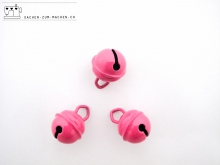 5 St. Glöckchen 15mm pink (deutsche Produktion)