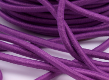 Gummikordel rund Ø3mm / violett