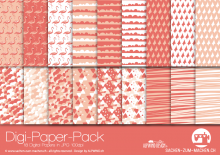 "Digi-Papers ""flamingo - apricot"""