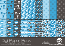 "Digi-Papers ""cats - blue"""