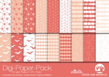 "Digi-Papers ""swallow - apricot"""