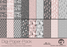 "Digi-Papers ""Christmas 4 - dusky pink"""