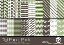 "Digi-Papers ""cactus green"""