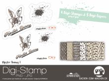 Digi-Stamp *hipster bunny* #1