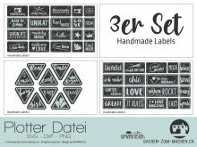 """Plotter-Datei """"Handmade Label"""" (3er-Set)"""