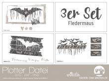 """Plotter-Datei """"Fledermaus"""" (3er-Set)"""