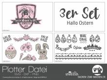 """Plotter-Datei """"Hallo Ostern"""" (3er-Set)"""