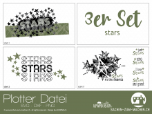"""Plotter-Datei """"stars"""" (3er-Set)"""