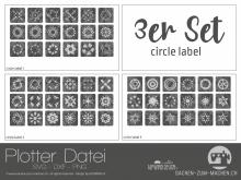 """Plotter-Datei """"circle label"""" (3er-Set)"""