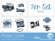 "Plotter-Datei ""NOPE"" (3er-Set)"