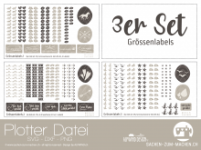 "Plotter-Datei ""Grössenlabel"" (3er-Set)"