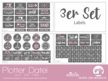 """Plotter-Datei """"labels"""" (3er-Set)"""