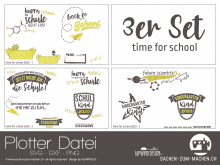 """Plotter-Datei """"time for school 2020"""" (3er-Set)"""