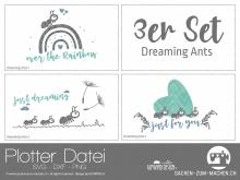 """Plotter-Datei """"dreaming ants"""" (3er-Set)"""