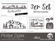 "Plotter-Datei ""Winterzauber"" (3er-Set)"