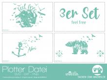 """Plotter-Datei """"feel free"""" (3er-Set)"""