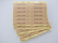 """""""hand  made"""" Aufkleber, 5 Bögen (60 Sticker)"""