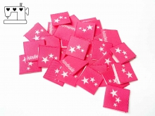 """20 St. Label """"Sterne"""" pink/weiss"""