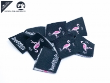 "20 St. Label ""Flamingo"" - schwarz"