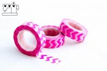 Masking Tape zickzack pink/weiss 1.5cm/10m