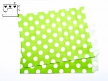 10 St. Papiertüten Punkte hellgrün/weiss  13x18cm