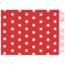 10 St. Papiertüten Sterne rot 13x16.5cm