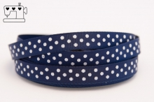 Ripsband, 9mm, Punkte/navy
