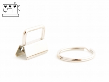5 St. Schlüsselanhänger Rohlinge 25mm inkl. Ring