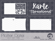 "Plotter-Datei ""Karte: Sternenhimmel"" inkl. Umschlag"