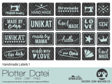"Plotter-Datei ""Handmade Label"" No1"