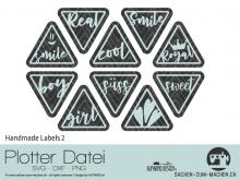 "Plotter-Datei ""Handmade Label"" No2"