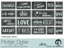 "Plotter-Datei ""Handmade Label"" No3"