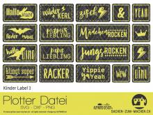"""Plotter-Datei """"Kinder Label"""" #3"""