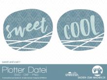 "Plotter-Datei ""sweet&cool"" #1"