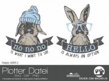 """Plotter-Datei """"happy rabbit"""" #2"""