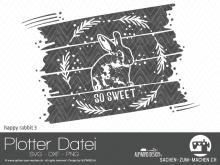 """Plotter-Datei """"happy rabbit"""" #3"""