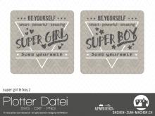 "Plotter-Datei ""super girl&boy"" #2"