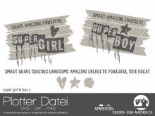 "Plotter-Datei ""super girl&boy"" #3"