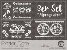 "Plotter-Datei ""Alpenzauber"" (3er-Set)"