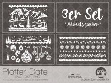 "Plotter-Datei ""Adventszauber"" (3er-Set)"