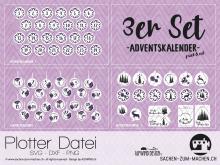 """Plotter-Datei """"Adventskalender"""" (3er-Set)"""