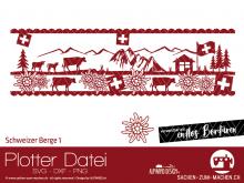 """Plotter-Datei """"Schweizer Berge #1"""""""