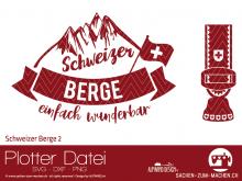 """Plotter-Datei """"Schweizer Berge #2"""""""