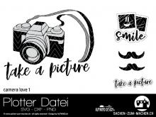 "Plotter-Datei ""camera love #1"""