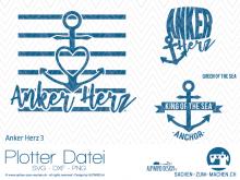 "Plotter-Datei ""Anker Herz"" No3"