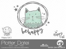 "Plotter-Datei ""Happy Cat"" #3"