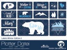 "Plotter-Datei ""Labels Winter-Edition"" #3"