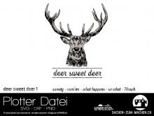 "Plotter-Datei ""deer sweet deer"" #1"