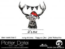 "Plotter-Datei ""deer sweet deer"" #3"
