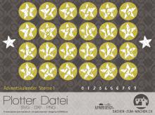 "Plotter-Datei ""Adventskalender-Sterne #1"""